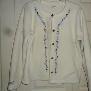 LL BEAN womens sweater fleece Jacket